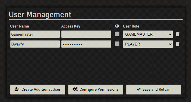 foundry vtt add player menu