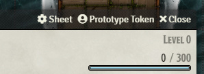 Prototype Token screenshot