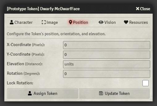 prototype token window position tab