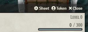token sheet