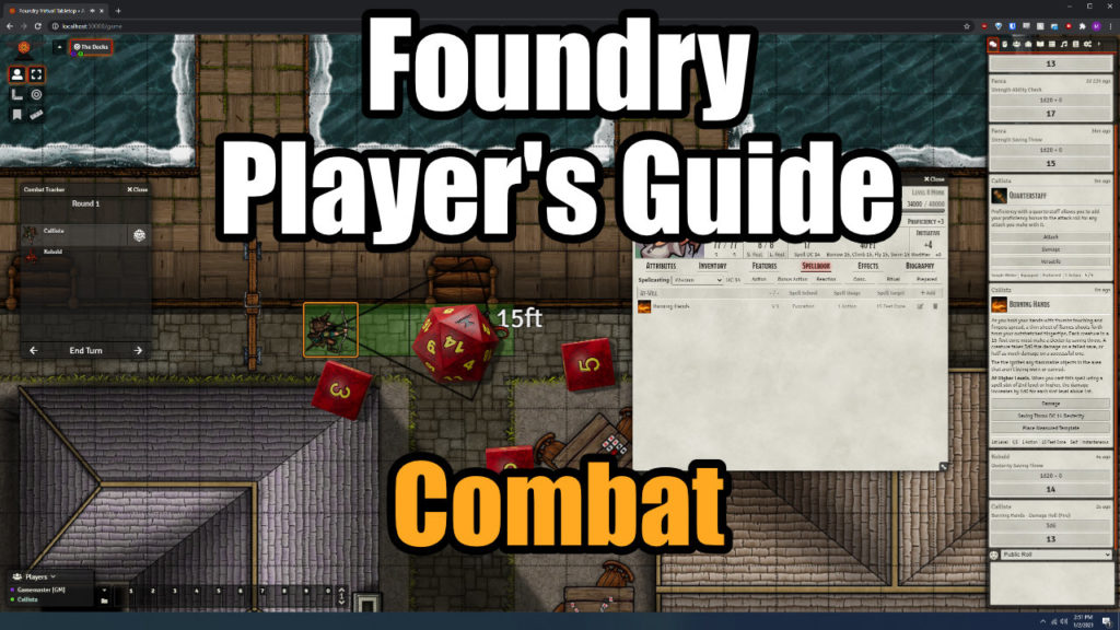 Foundry Player's Guide Thumbnail - Combat