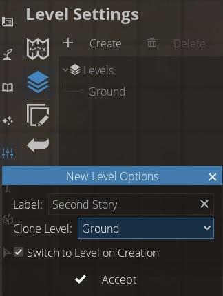 Level settings