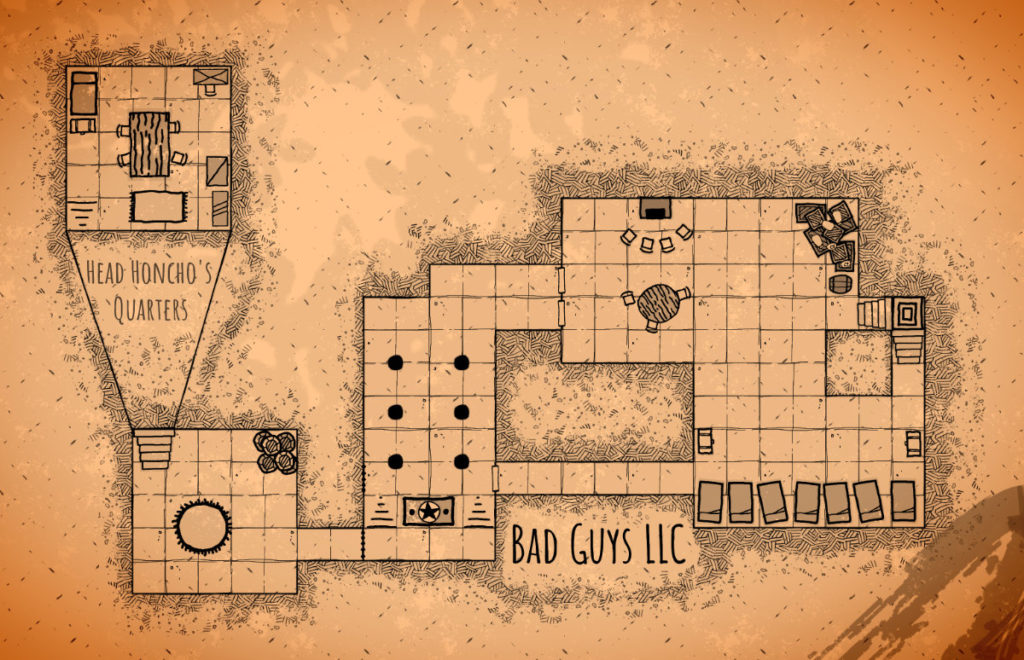 Bad Guys LLC Hand-Drawn Map
