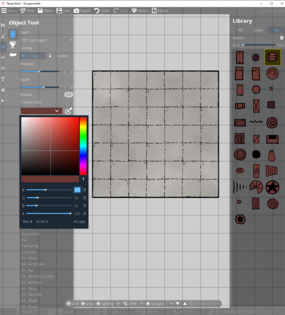 Colorable assets and the color picker