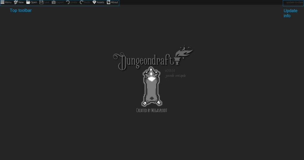 DungeonDraft title screen