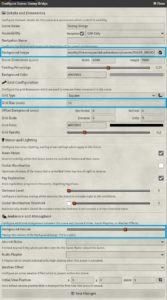 Scene Configuration Window with WebM settings